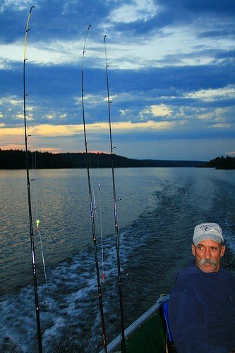 Trevor Owens 'The Angler' and a beautiful Doe Lake sunset