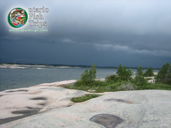 Storm Front Moves In Along Georgian Bay
