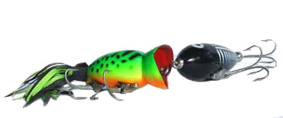 Bass Popper and Heddon Lure