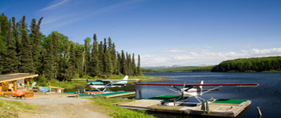 Ontario Float Plane At Remote Lake Outpost