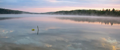 Morning Mist on Remote Ontario Lake